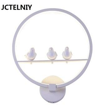 Lampada da parete breve cerchio lampada scala bed-illuminazione di modo acrilico LED lampade da parete lampada da parete della stanza dei bambini