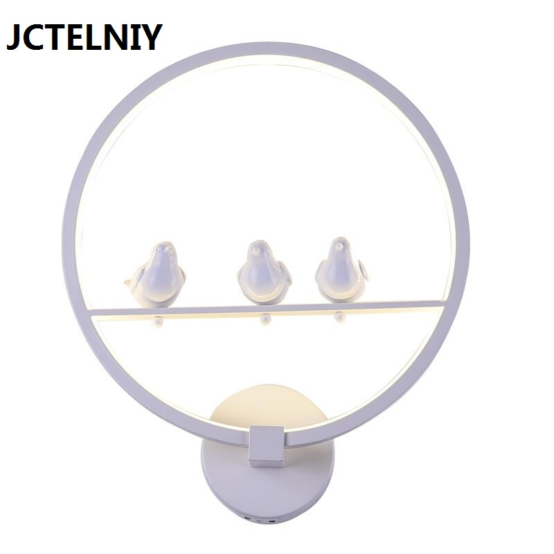 Wall lamp brief circle stair lamp bed-lighting fashion LED acrylic wall lamps Children's room wall lamp new wrought iron wall lamp e14 modern brief chinese style lamp bed lighting stair lamps