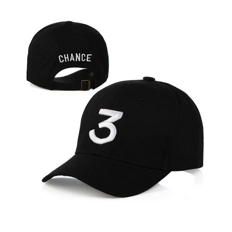 "Embroidered ""Chance"" The Rapper Baseball Cap - Rear View and Angle View"