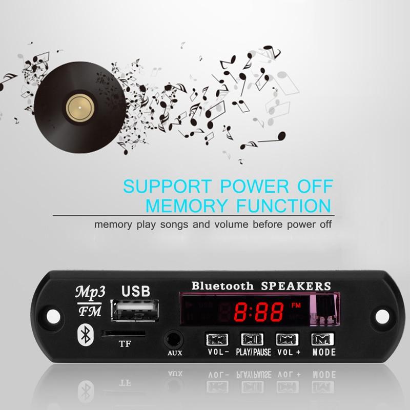 Bluetooth Remote 12V MP3 Decoder Board Audio Module USB Radio for Car IAZ