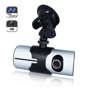 "Image 2 - Çift kameralı araç dvr R300 GPS ve 3D g sensor 2.7 ""TFT LCD X3000 kam video kamera döngü kayıt dijital Zoom"