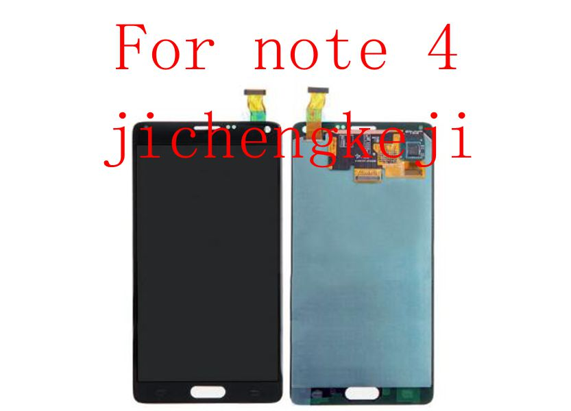 Amoled display Lcd Screen+Touch Glass digitizer Assembly For Samsung Note 4 N910F N910A N910P N910T white/black 100% brand new lcd digitizer touch screen display assembly for samsung galaxy note 4 n910 n910a n910v n910p n910t black or white