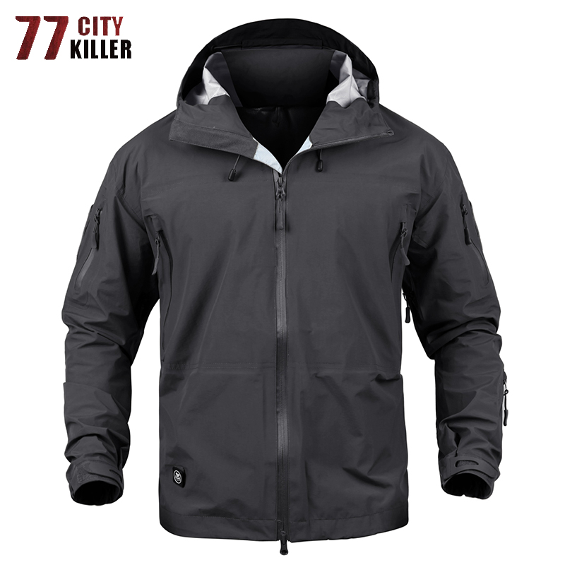 77 City Killer automne hiver coquille dure militaire tactique veste hommes imperméable résistant à l'usure vestes Outwear casaco masculino