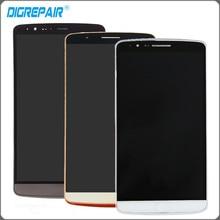 Серый золотой белый для LG G3 D855 D850 ЖК-дисплей Дисплей Сенсорный экран с планшета + рамка Полное собрание Бесплатная доставка