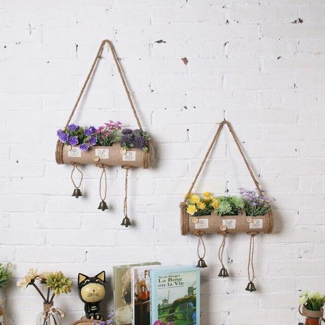 pays style intrieur pot culture artificielle arbre panier miniature faux fleur bonsa plants darbres