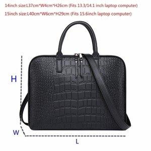 Image 5 - Dames ordinateur sacs à main femmes bureau sac à main filles en cuir sac à bandoulière femme affaires ordinateur portable porte documents pour Lenovo Hp Dell