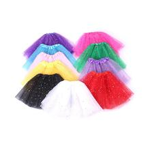 Summer Fashion Baby Girls Tutu Skirt Star Sequin Princess Birthday Tulle Lucky Child Newborn 3-8Y