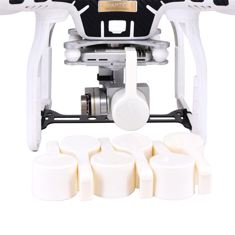 Lens Protective Gimbal Camera Protector Cover for DJI Phantom 3S 3SE 3A 3P Gimbal Lock Clamp Guard Case Holder Safety Lens Caps image