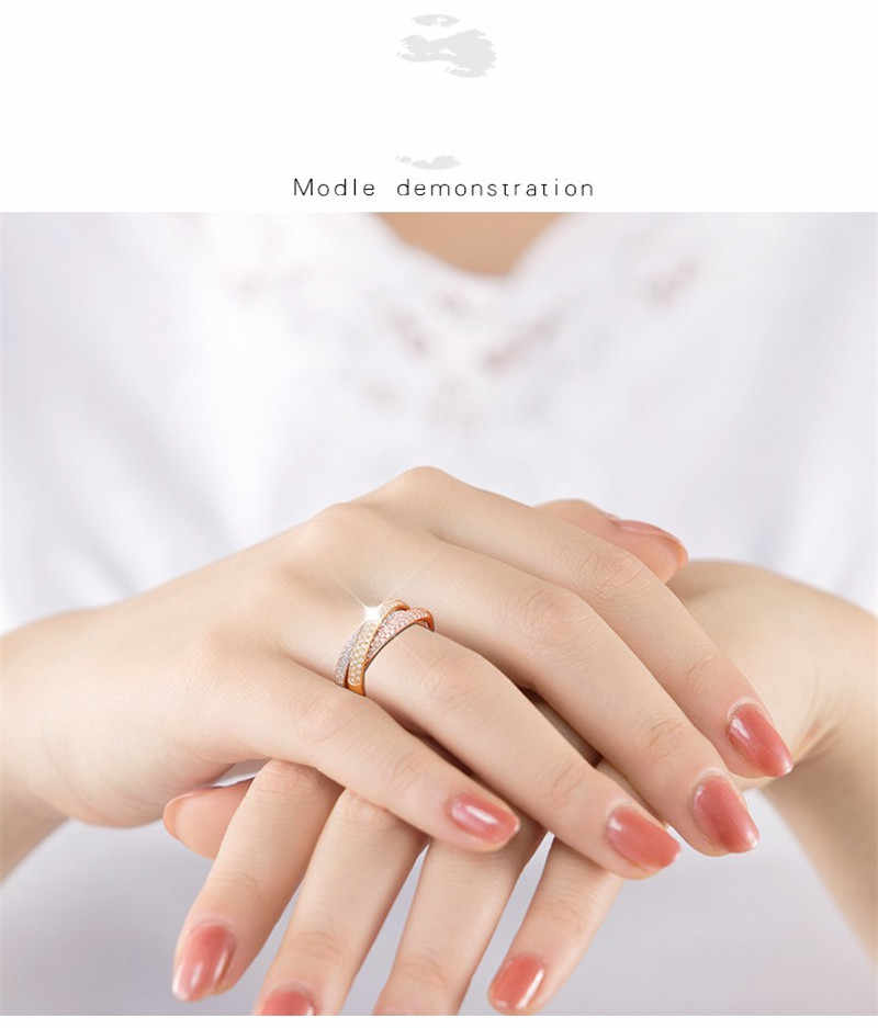 Vecalon 3-em-1 Cruz Promise Ring Set 925 sterling silver Pave configuração 5A Zircon Cz anéis de Noivado para Jóias Presente mulheres Homens