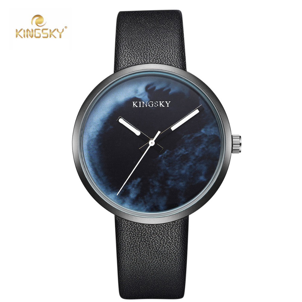 kingsky Fashion casual Band Women Watch Waterproof Ladies Quartz Wristwatches Simple sky Dial Design relogio feminino 2017 free shipping kezzi women s ladies watch k840 quartz analog ceramic dress wristwatches gifts bracelet casual waterproof relogio