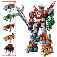 2321PCS Voltron force Fit Legoness 21311 With 5 Transformed lions Combination Robot Building Blocks Toys Kids Boy DIY Gifts