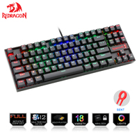 Redragon K552 Gaming Keyboard Mechanical 87 Key RGBLED Backlit Mechanical Computer illuminated Keyboard with Blue Switches