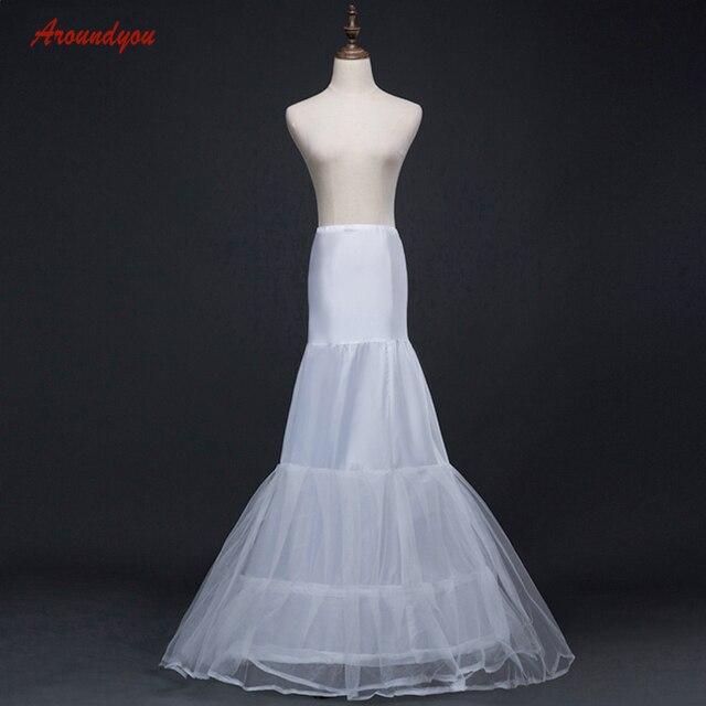 6dfb1eb81c5b9e Jupon sirène longue blanche pour robe de mariée femme sous jupe Tulle jupon  Crinoline cerceau