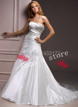 MORI-2013 Custom Made Free Shipping Fashion Off 5% Cheap Low Price A-Line Ruched Bodice Floor Length Ball Bridal Wedding Gown Dr