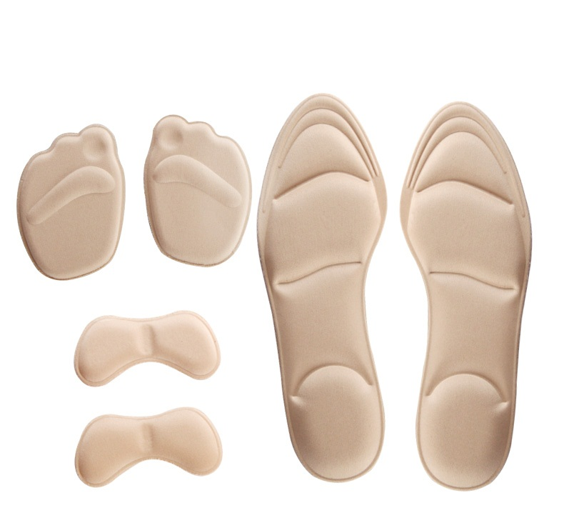 Memory Foam Shoes Insoles Breathable Shoes Pad Shock Absorbing Insoles Heel Pads Inserts  Palmilhas Inlegzolen Semelles Confort grey foam polish pad by presta