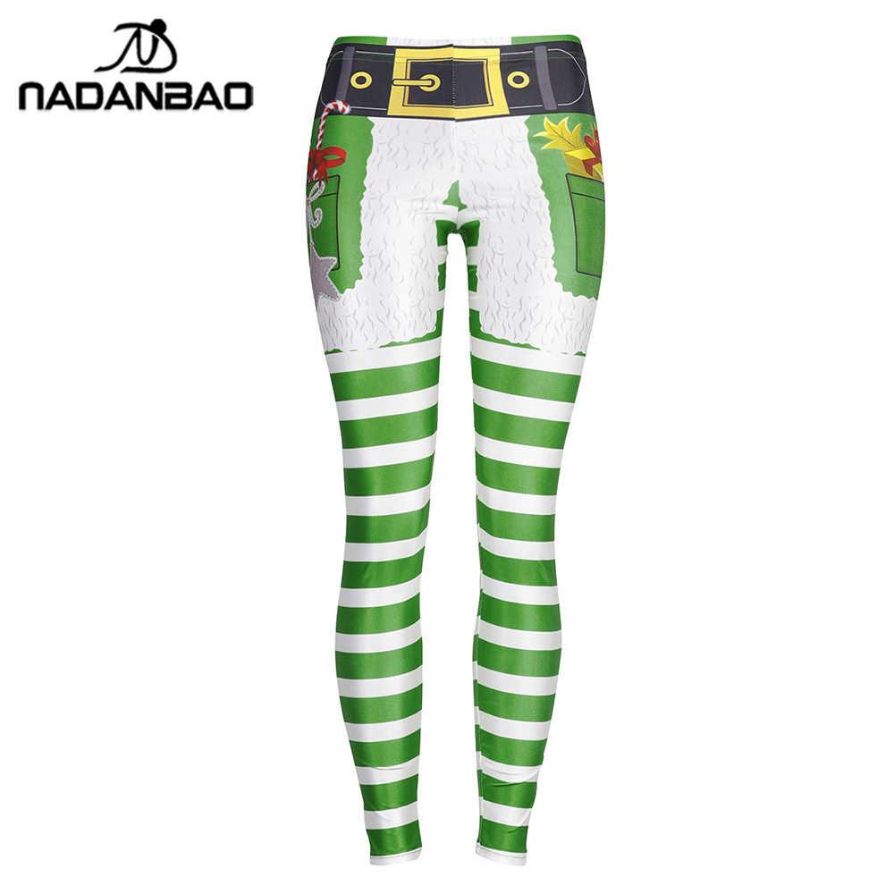 930423cac5cf7 ... NADANBAO Stripe Tribal Leggings Women Christmas Belt Pocket Gift Plus  Size Leggins Autumn Winter Festival Legging ...