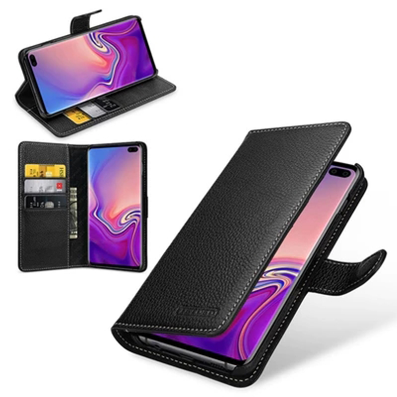 Wallet Case for Samsung Galaxy S10 Genuine Leather Shell Flip Phone Cover for Galaxy S10 Plus Skin Cases for Samsung Galaxy S10e