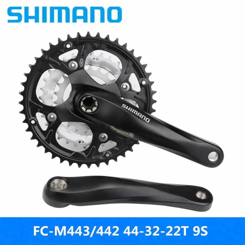 SHIMANO FC-M443/442 spline Звездочка горный велосипед 9 скоростей 44-32-22T зуб большой зубчатый диск 170/175 мм Бренд No BB новый оригинальный