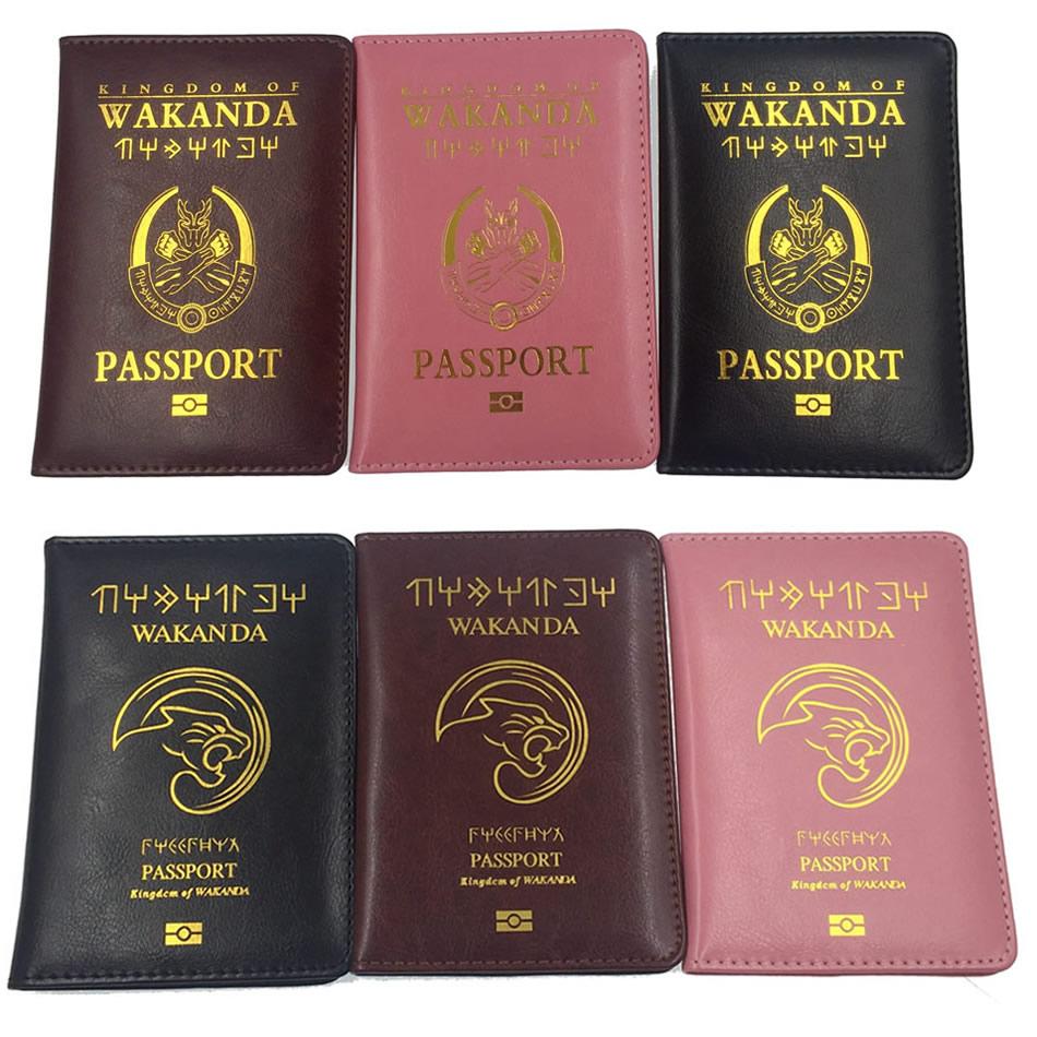 Travel Accessories Wakanda Passport Holder Women Function PU Leather Cover Storage Organizer Busines Credit ID Card Wallet Case