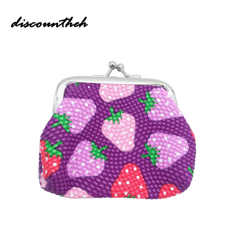 Coin Purse New Fashion Lady Mini Linen Card Holder Case Woman Fruit Coin Purse Clutch Bag Drop Shipping