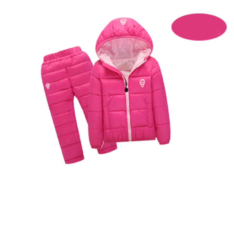 Children set Boys Girls Clothing Sets Winter Hooded Down Jackets+Trousers Waterproof Thick Warm Tracksuit Kids Clothing Sets Hot цены