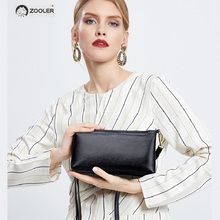 ZOOLER  woman leather shoulder bags luxury 2019 New Genuine Leather small cross body bag functional lady day clutches hot#z189
