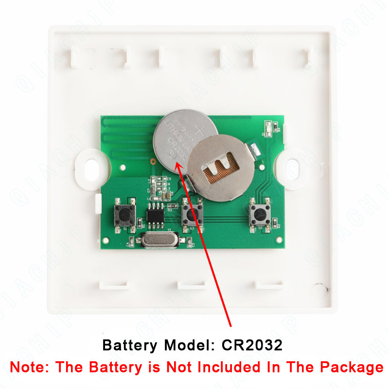 Image 4 - Universal  Wireless 433 MHz Remote Control Switch AC 110V 220V 2 CH Relay Receiver Module + Wall Panel RF Remote Controls-in Remote Controls from Consumer Electronics