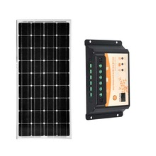 Kit Panneau Solaire 100 w 12v Solar Battery Charger Solar Charge Controller 12v/24v 20A PWM Camping Car Caravane Motorhome Boat