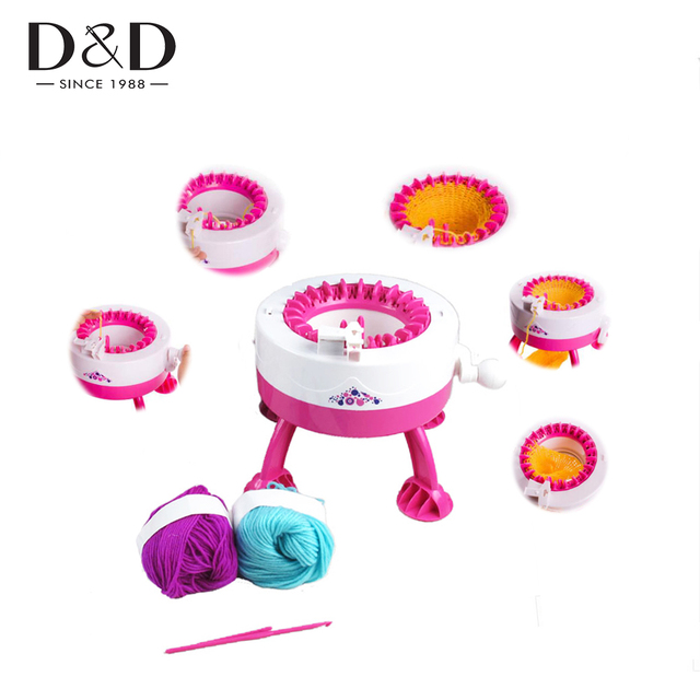 D D 22 Needles Mini Plastic Children Manual Fast Knitting Machine