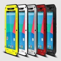 האהבה מיי עבור Google Nexus 6 CaseI הלם DirtProof מים עמיד שריון מתכת אלומיניום הסיליקון כיסוי Case עבור Google Nexus 6