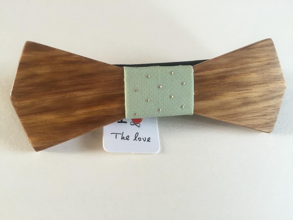 Weihnachten Gravata Handgemachte Holz Bogen Krawatten Bowtie Schmetterling Gravata Krawatten Für Männer Diy Dot Herren Holz Fliege Bekleidung Zubehör