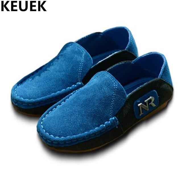 Mocasines alta calidad niño nueva colección, zapatos niños piel auténtico deportes ocasionales estudiante.