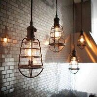 110 V 220 V Pendelleuchte Retro Loft Droplight Leuchte Eisen hängeleuchte Metallrahmen Lampe Halter Luminaria Lampara Vintage