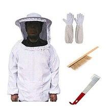 4pcs Beekeeper Protective Veil Suit Bee Suit Equip