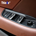 7 Pcs/Set ABS Chrome Car Styling Interior  Door Window Lift Switch Cover Decoration For  AUDI A1 A3 8V B8 A6 C7 Q3 Q5  Name:Car