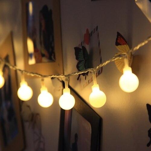 3 м, 6 м, 10 м, водонепроницаемая сказочная гирлянда, светодиодный шар, декоративные гирлянды для рождественской елки, свадьбы, дома, внутреннего украшения - Испускаемый цвет: warm white