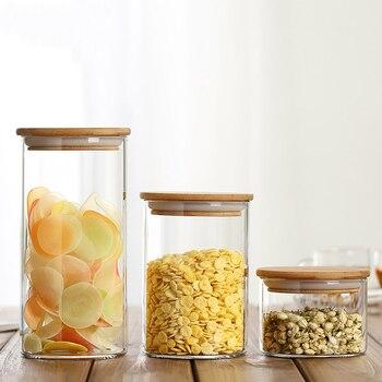 Größe Küche | 6 Grosse Glas Aufbewahrungsbox Dichtung Deckel Tee Lebensmittel