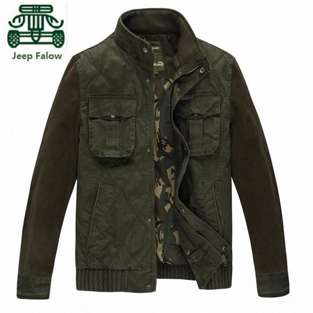 Afs джип Falow полный рукав вельвет лоскутное мужская зимняя толщина общая куртка, Свободного покроя Mutil карманы отдыха куртки