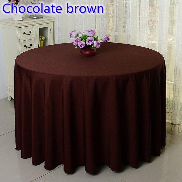 € 54.23  Brun chocolat couleur de table de mariage de table de couverture  tissu polyester linge de table hôtel banquet tables rondes décoration en ...