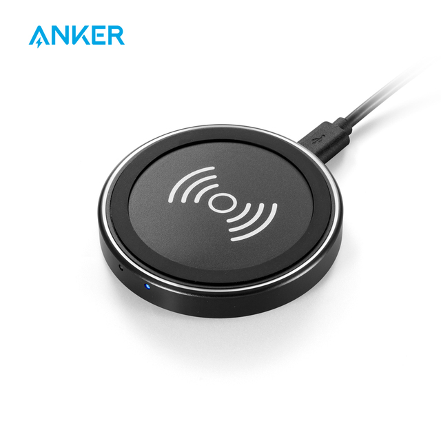 new style 4a3c1 a72fe US $17.99 30% OFF|Anker Wireless Charger PowerPort Qi Wireless Charging Pad  for iPhone XS/XS Max/XR/ X/ 8/8 Plus, Galaxy Note 5/S9/S8/S7/S6 Others-in  ...
