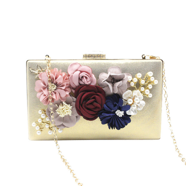 6e80318d65 Women s Handbags Flower Appliques Clutches Evening Bags Handbags Wedding Clutch  Purse luxury handbags women bags designer