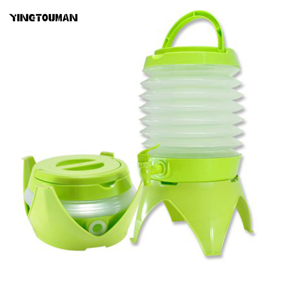 YINGTOUMAN Camping Muti Tools Portable Collapsible Folding Bucket Outdoor Multi Tools Mini Drinking Fountain