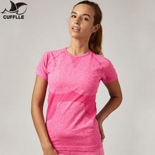 Запонки быстросохнущая футболка для тренировок Йога T Обтягивающая майка женские спортивные майки Для Бега Спортзала фитнеса короткий рукав одежда топы для женщин