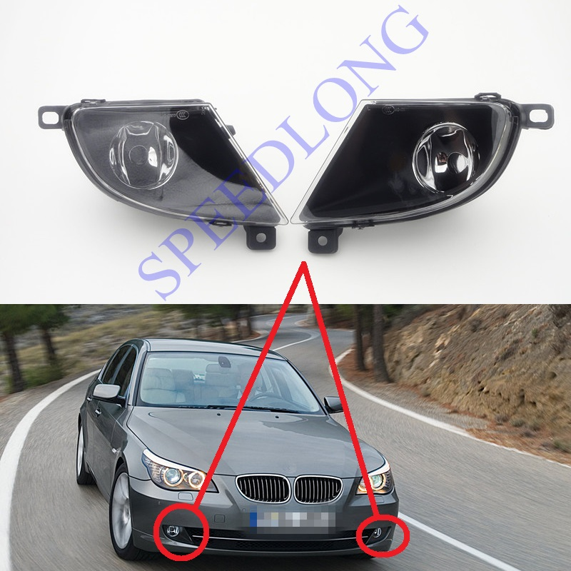 2 Pcs/Pair RH and LH halogen fog lamp front driving fog lights for BMW 5 Series E60 New Model 2008-2010 free shipping new pair halogen front fog lamp fog light for vw t5 polo crafter transporter campmob 7h0941699b 7h0941700b