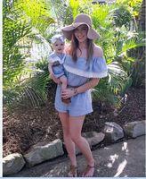 Di modo Mommy And Me Famiglia Corrispondenza Outfit Madre e Figlia vestiti Mamma e Figlia Famiglia Sguardo Vestito Del Bambino Vestiti Blu