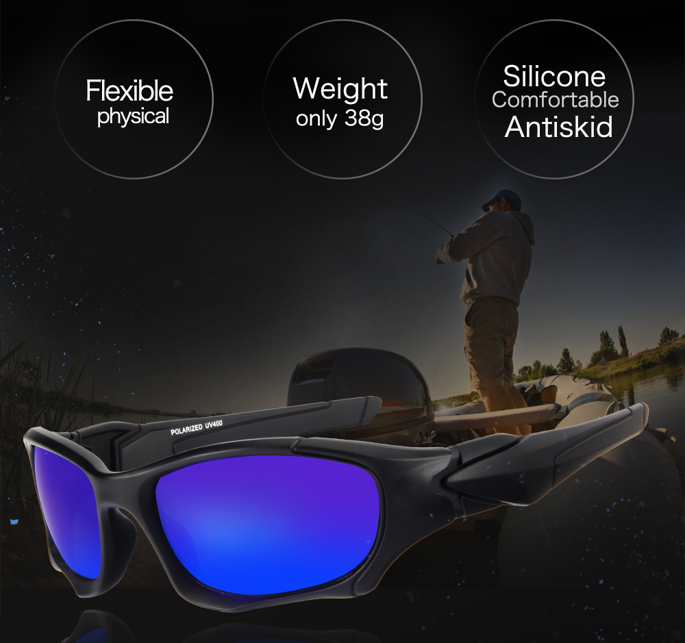 New Queshark UV400 UltraLight Men Women Sunglasses Polarized Fishing Glasses Sports Goggles Cycling Climbing Hiking Fishing Eyewear