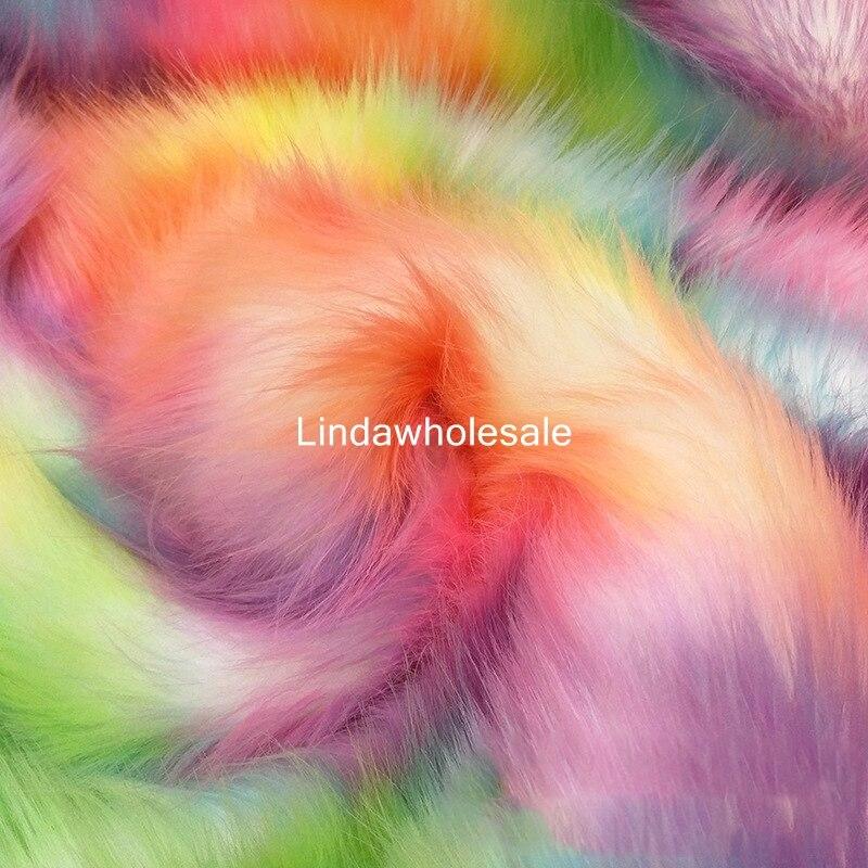 Kleurrijke vossenbont imitatie bont thuis textiel stof, patchwork stoffen, vilt doek, 160 cm * 90 cm (een yard)/pcs-in Stof van Huis & Tuin op  Groep 1