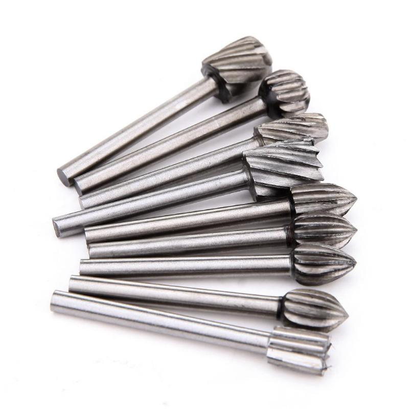 20pcs/Set 3mm Wood Drill Bit Nozzles For Dremel Attachments HSS Stainless Steel Wood Carving Tools Set Woodworking