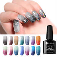 UR SUGAR Holographic Temperature Color Changing Gel Nail Polish Shiny Rainbow Thermal Glitter Soak Off UV Gel Varnish 7.5ml Nail