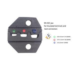 Image 2 - לחיצה כלי 5 ב 1 לחיצה פלייר משולבת כלי עבור חשמל כבל מתאים עבור מגוון רחב של מסוף plier סט